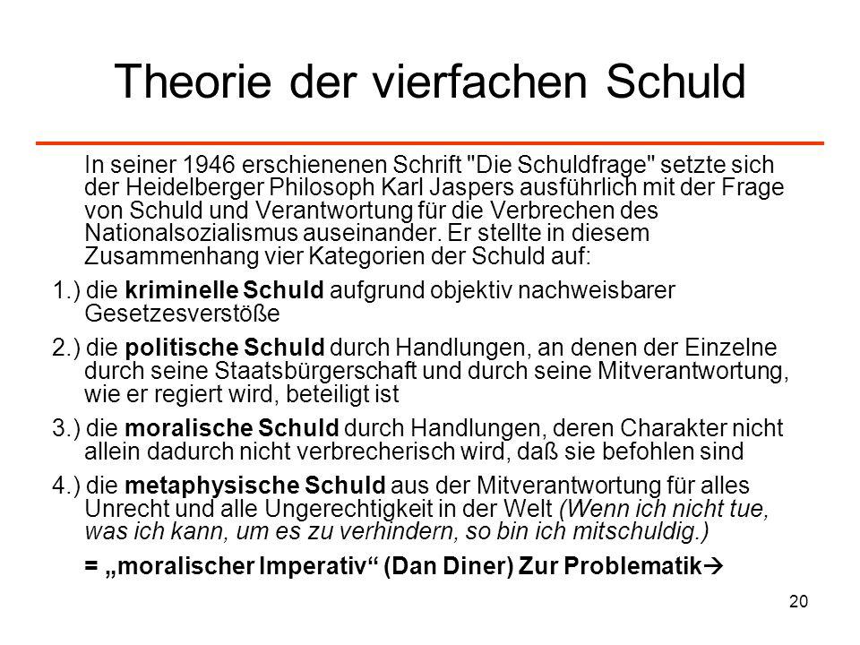 Theorie der vierfachen Schuld