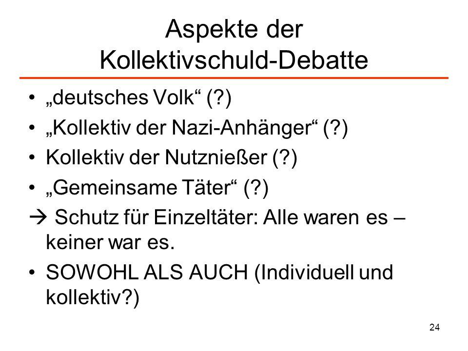Aspekte der Kollektivschuld-Debatte