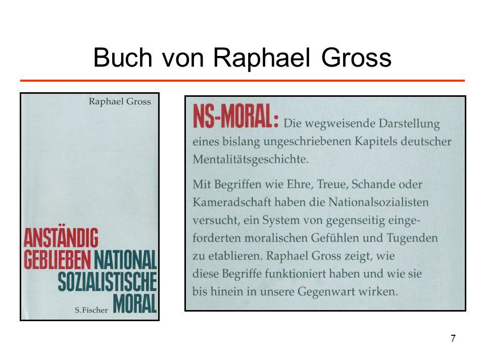 Buch von Raphael Gross
