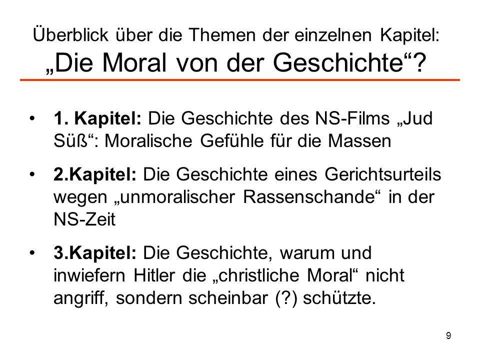 """Überblick über die Themen der einzelnen Kapitel: """"Die Moral von der Geschichte"""