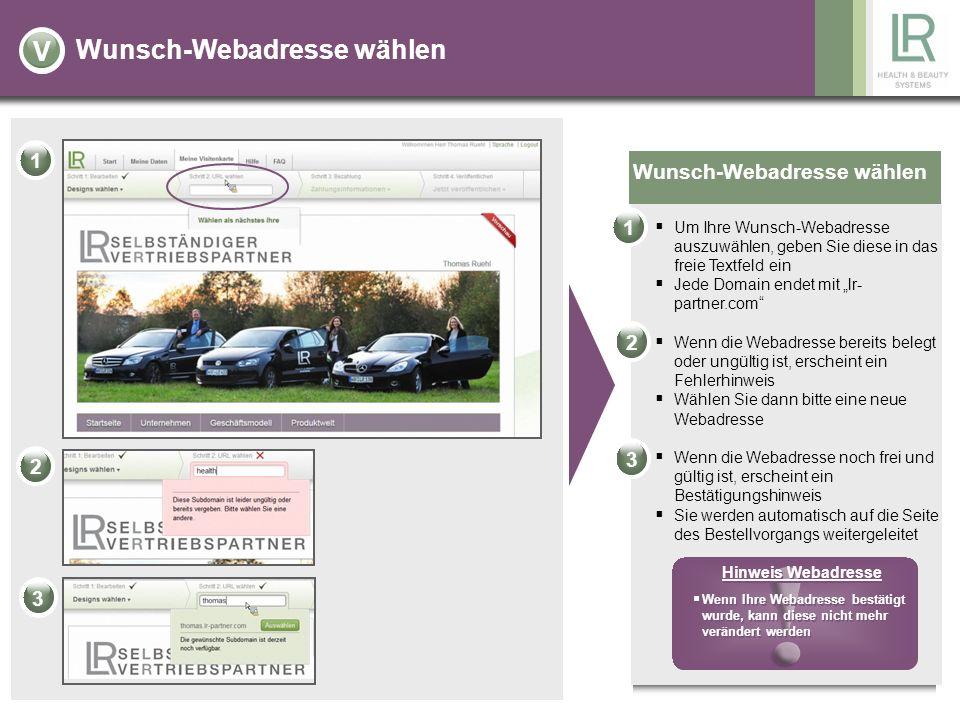 Wunsch-Webadresse wählen