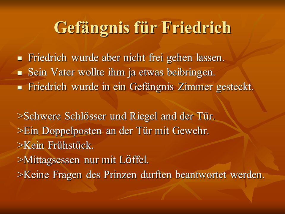 Gefängnis für Friedrich