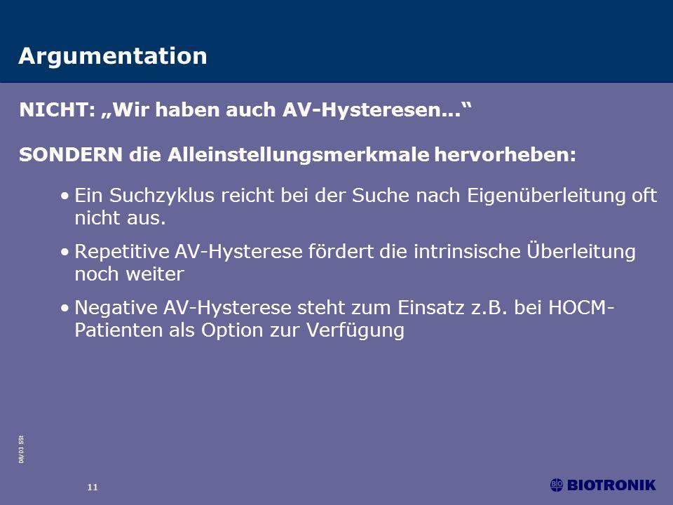 """Argumentation NICHT: """"Wir haben auch AV-Hysteresen..."""