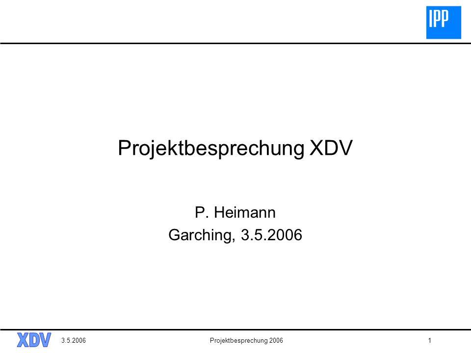 Projektbesprechung XDV