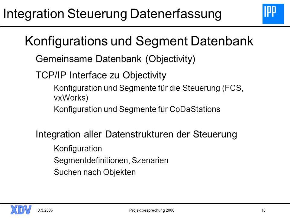 Integration Steuerung Datenerfassung