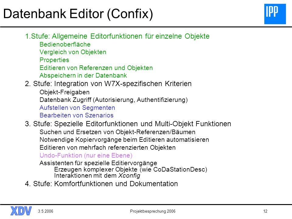 Datenbank Editor (Confix)