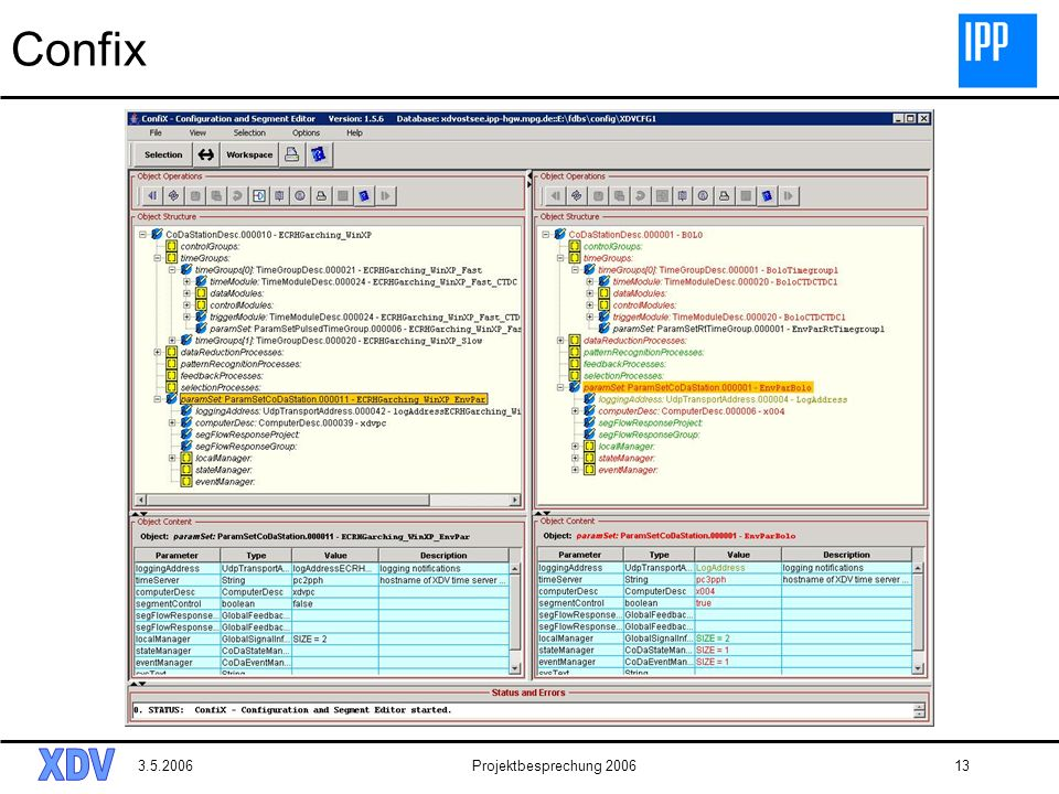 Confix 3.5.2006 Projektbesprechung 2006
