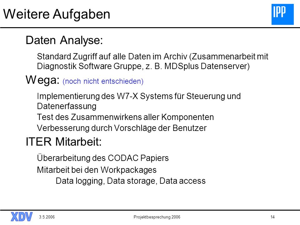 Weitere Aufgaben Daten Analyse: