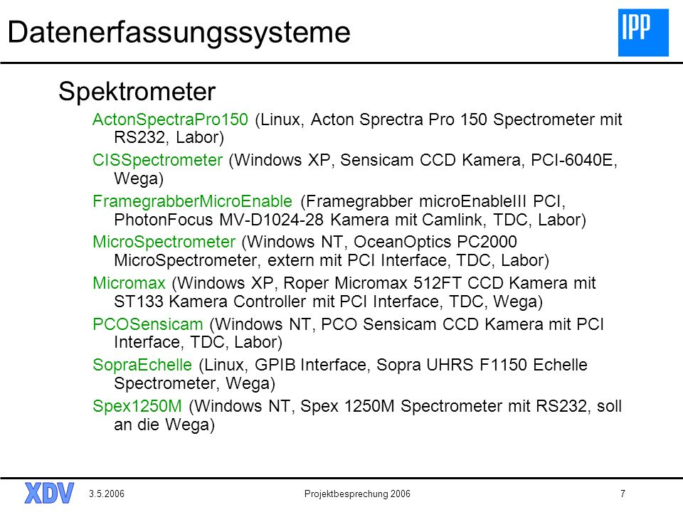 Datenerfassungssysteme