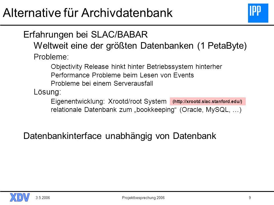 Alternative für Archivdatenbank