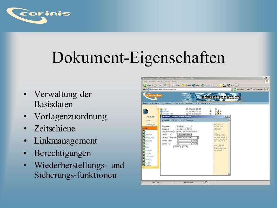 Dokument-Eigenschaften