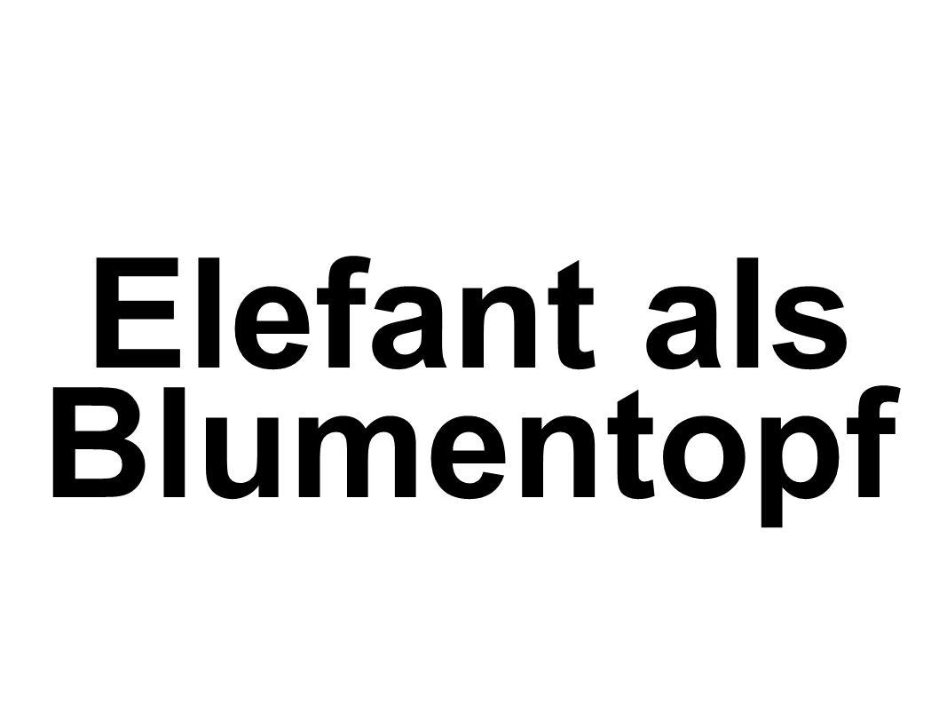 Elefant als Blumentopf
