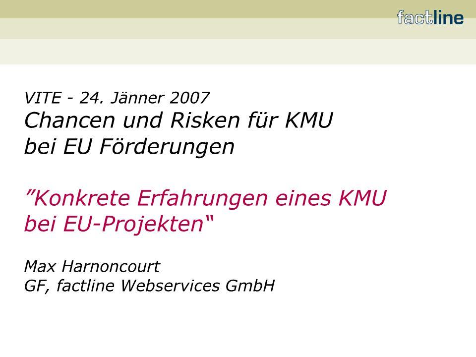 Chancen und Risken für KMU bei EU Förderungen