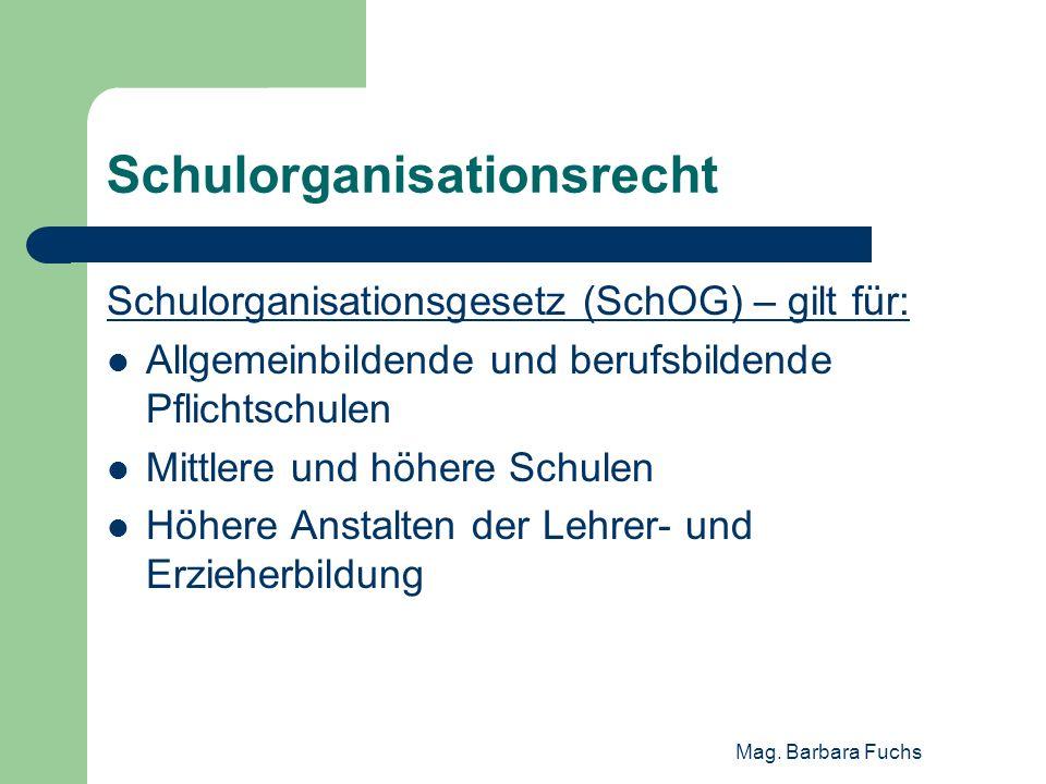 Schulorganisationsrecht