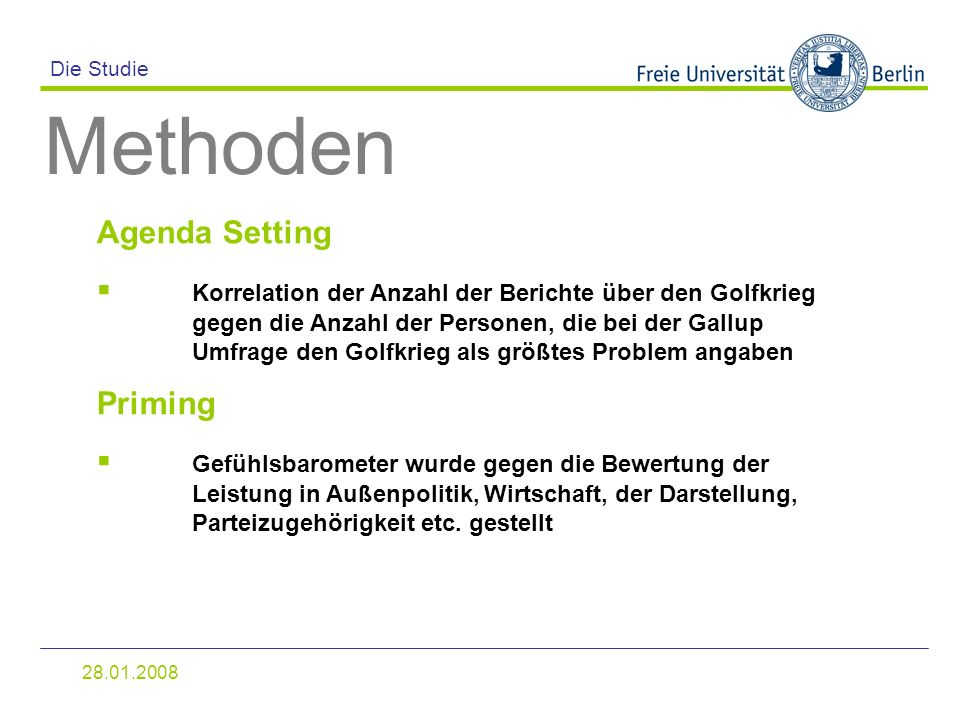 Methoden Agenda Setting
