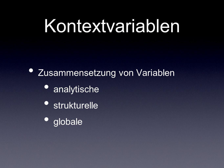 Kontextvariablen Zusammensetzung von Variablen analytische