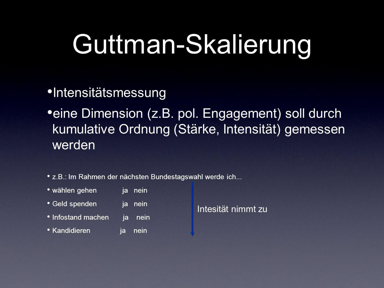Guttman-Skalierung Intensitätsmessung