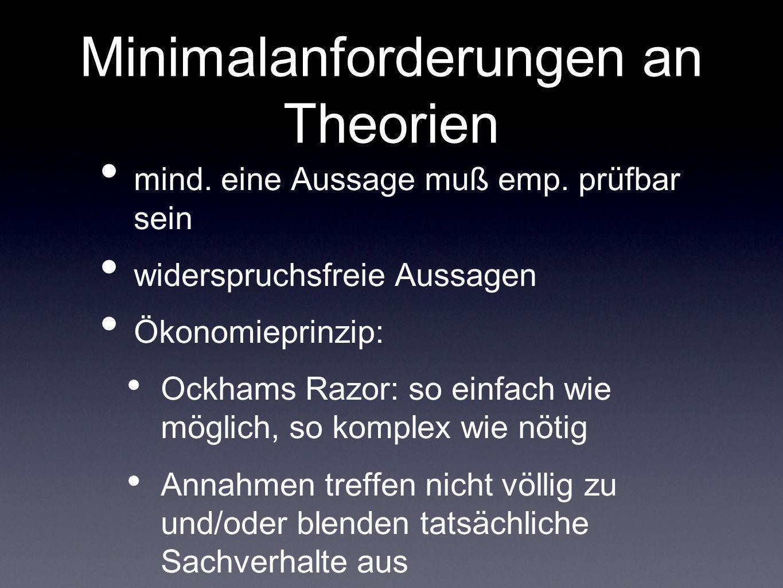 Minimalanforderungen an Theorien