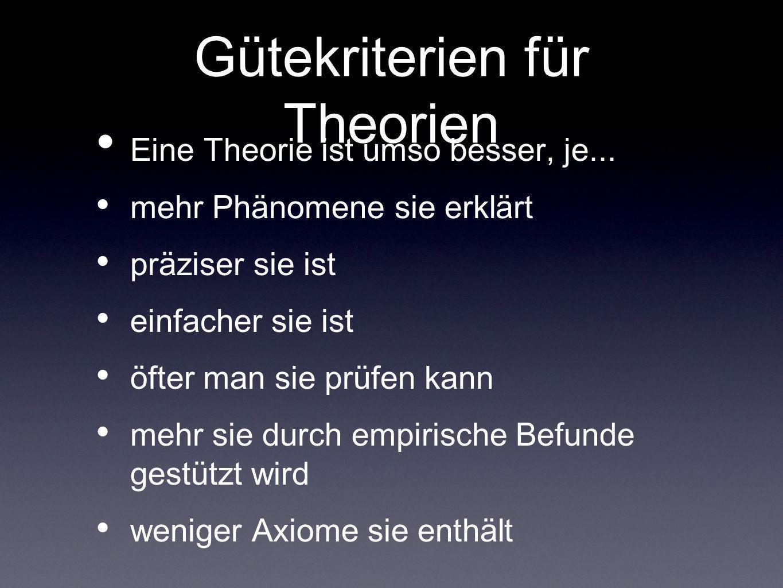 Gütekriterien für Theorien
