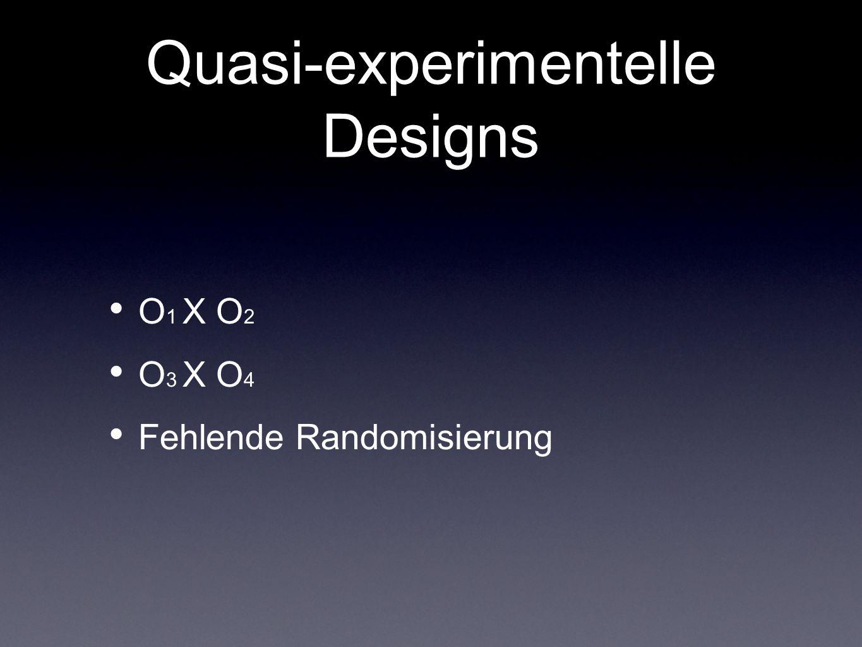 Quasi-experimentelle Designs