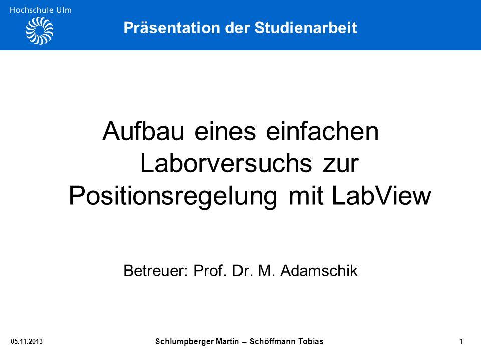 Präsentation der Studienarbeit