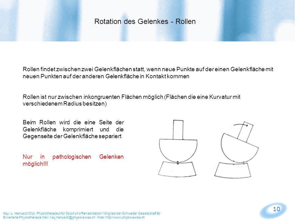 Rotation des Gelenkes - Rollen