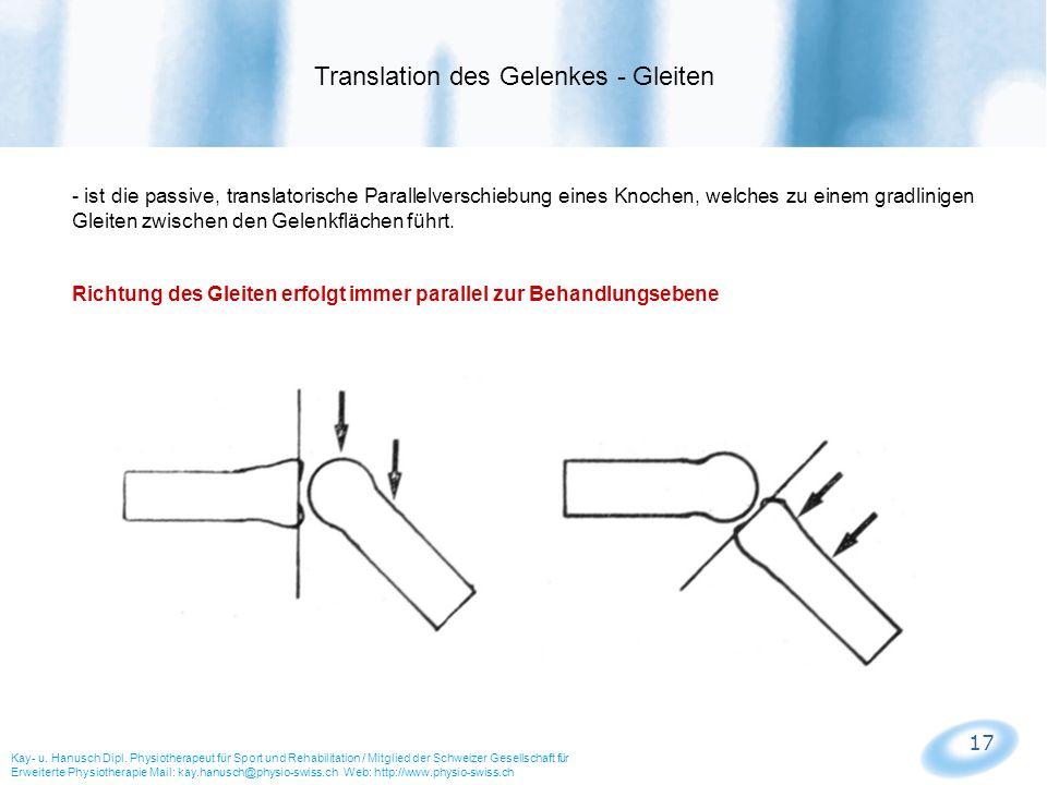 Translation des Gelenkes - Gleiten