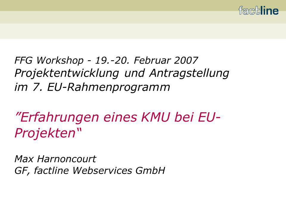 Erfahrungen eines KMU bei EU-Projekten