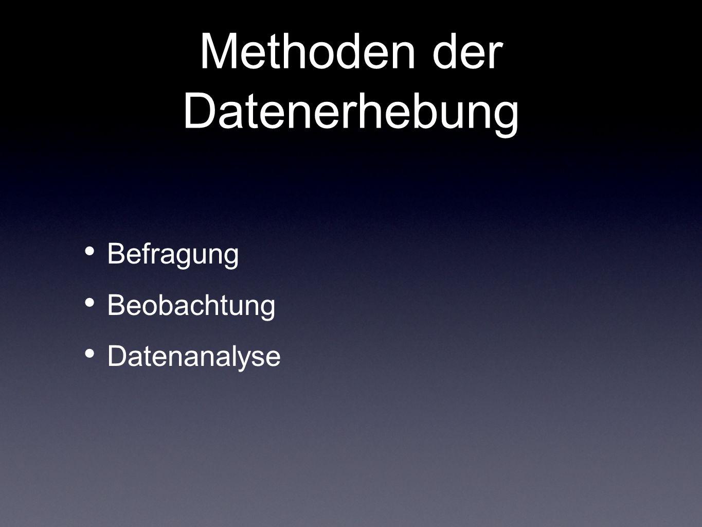 Methoden der Datenerhebung