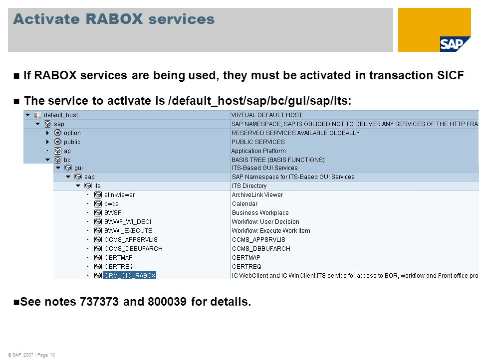 Activate RABOX services