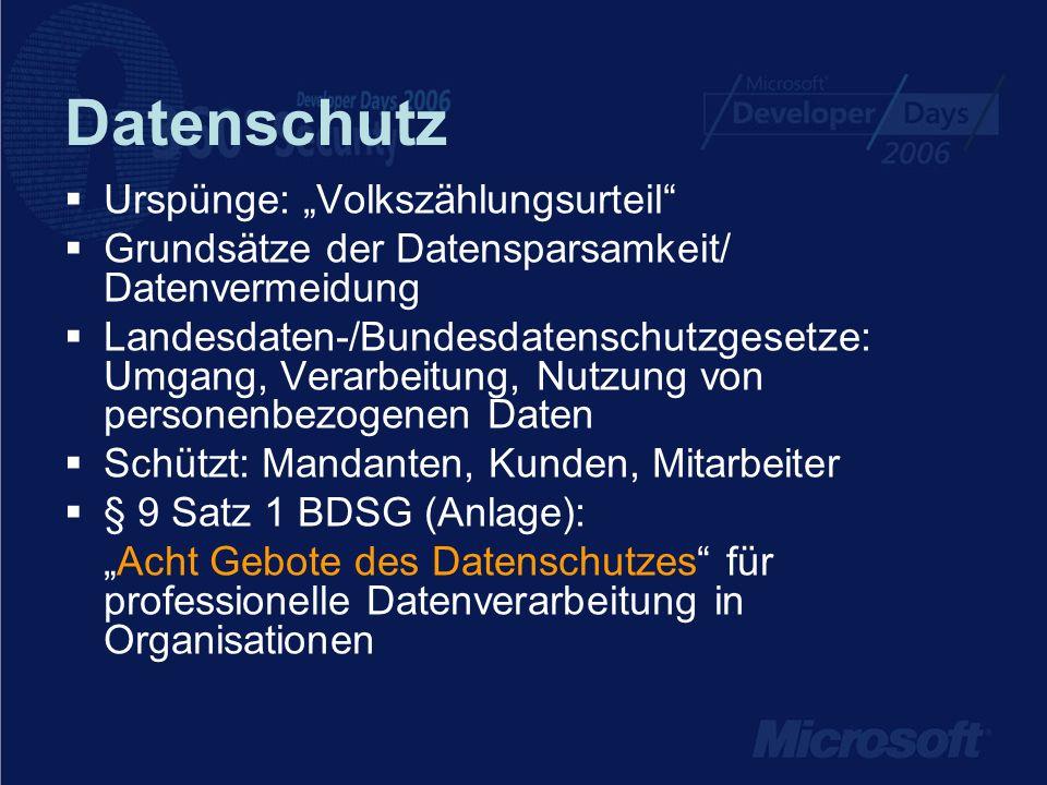 """Datenschutz Urspünge: """"Volkszählungsurteil"""
