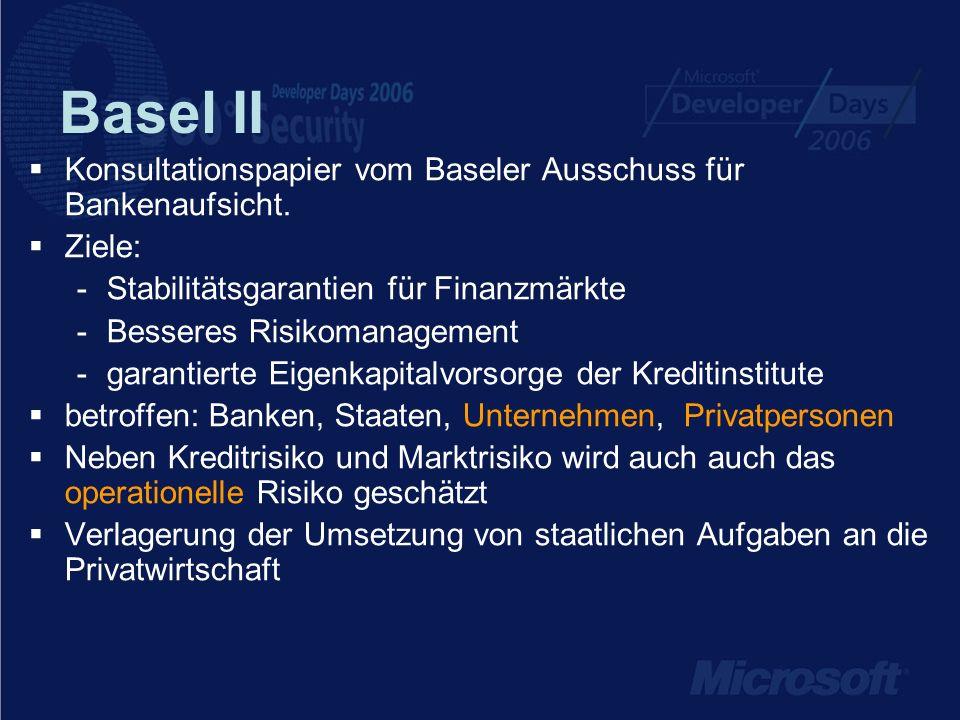 Basel II Konsultationspapier vom Baseler Ausschuss für Bankenaufsicht.