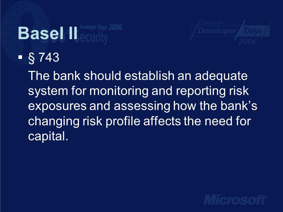 Basel II § 743.
