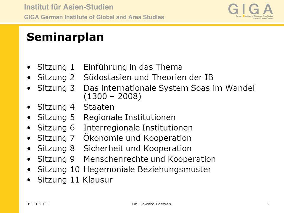 Seminarplan Sitzung 1 Einführung in das Thema