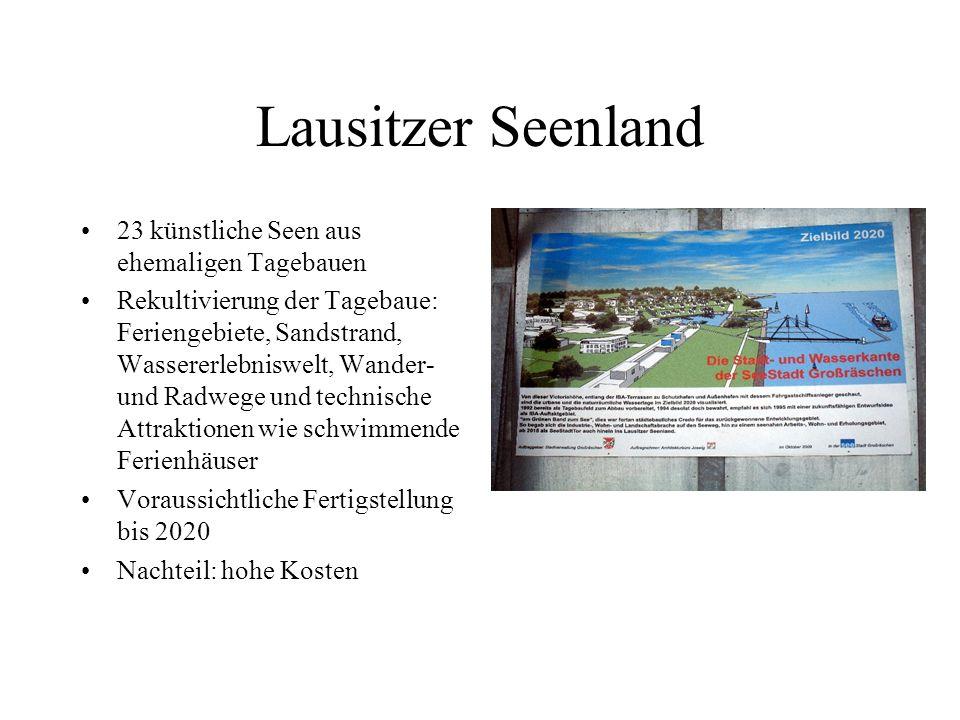 Lausitzer Seenland 23 künstliche Seen aus ehemaligen Tagebauen