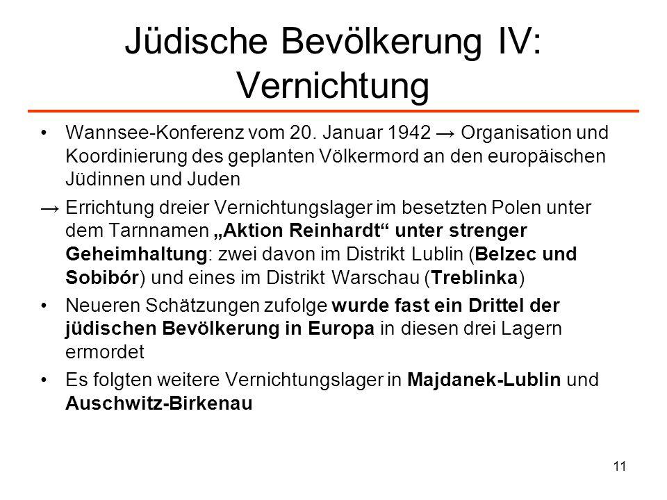Jüdische Bevölkerung IV: Vernichtung