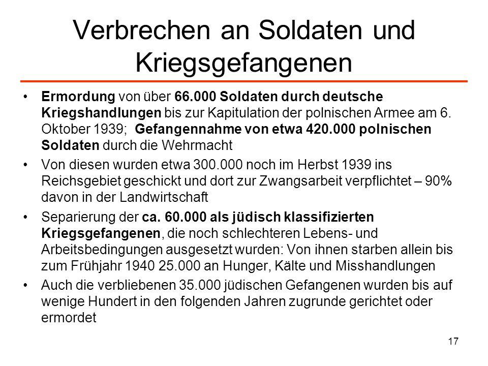 Verbrechen an Soldaten und Kriegsgefangenen