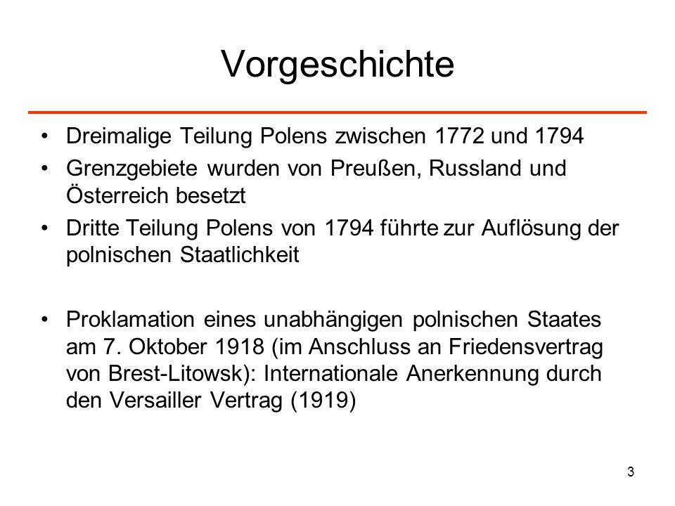 Vorgeschichte Dreimalige Teilung Polens zwischen 1772 und 1794