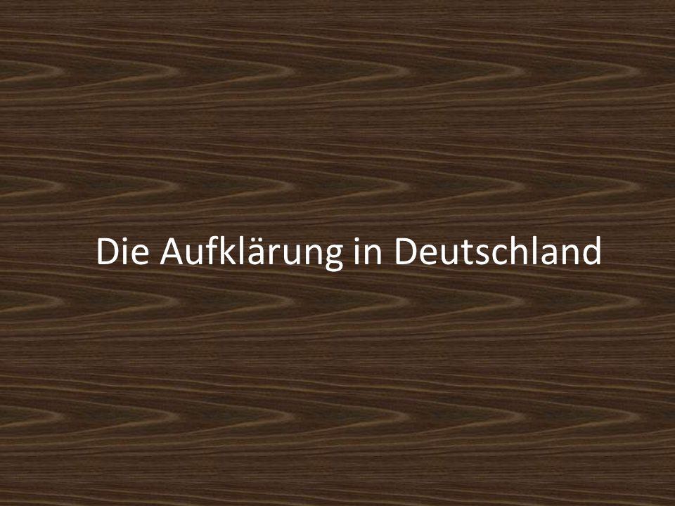 Die Aufklärung in Deutschland