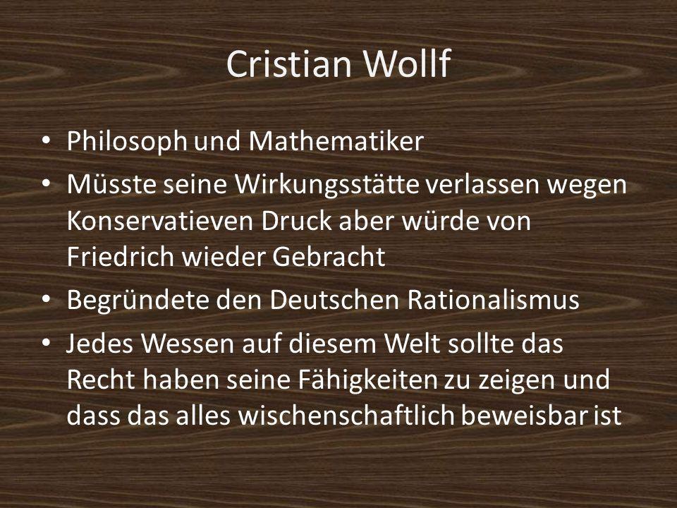 Cristian Wollf Philosoph und Mathematiker
