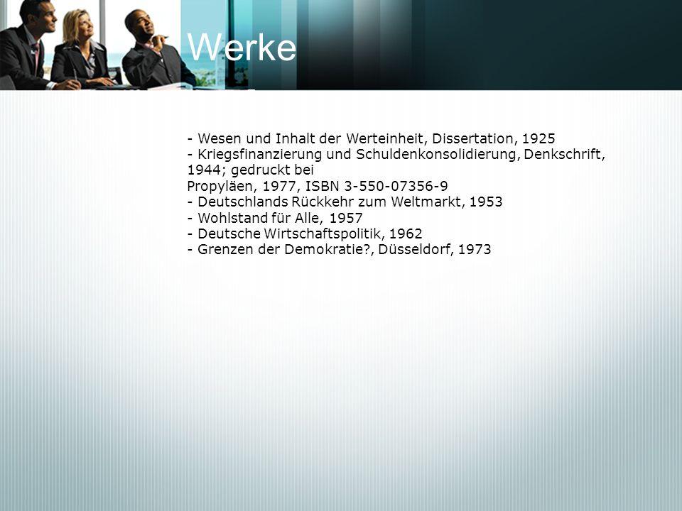 Werke - Wesen und Inhalt der Werteinheit, Dissertation, 1925