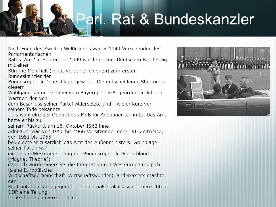 Parl. Rat & Bundeskanzler