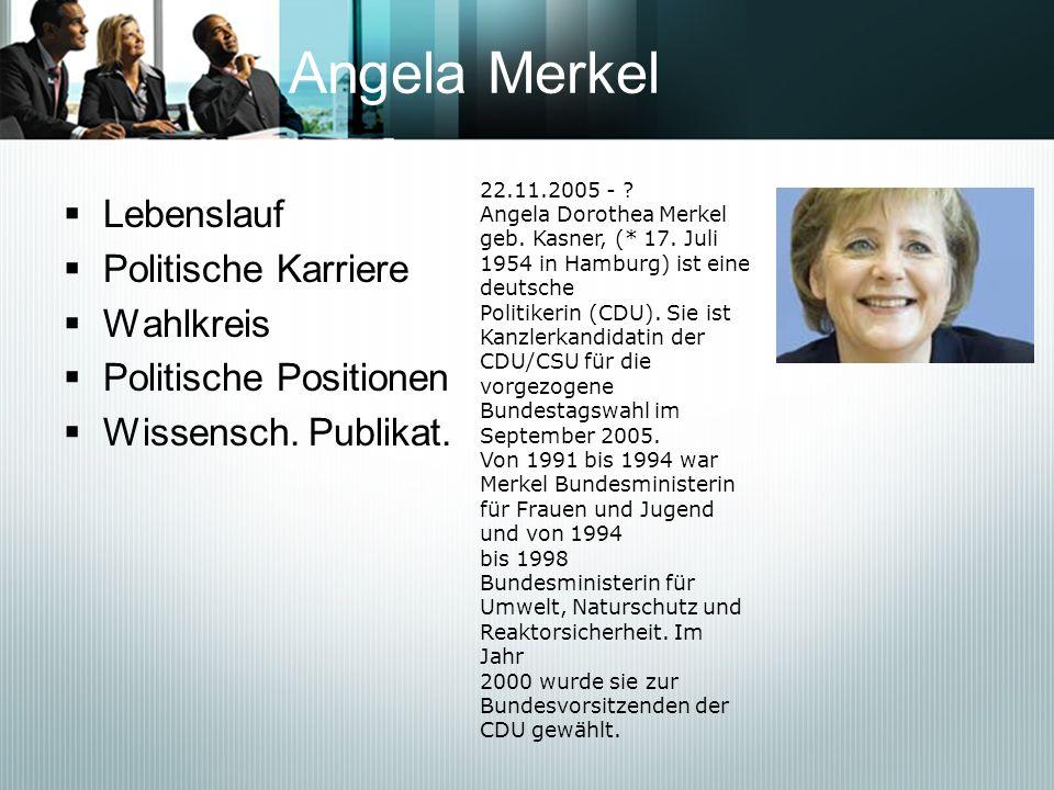 Angela Merkel Lebenslauf Politische Karriere Wahlkreis