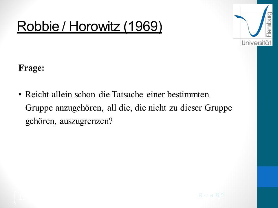 Robbie / Horowitz (1969) Frage: