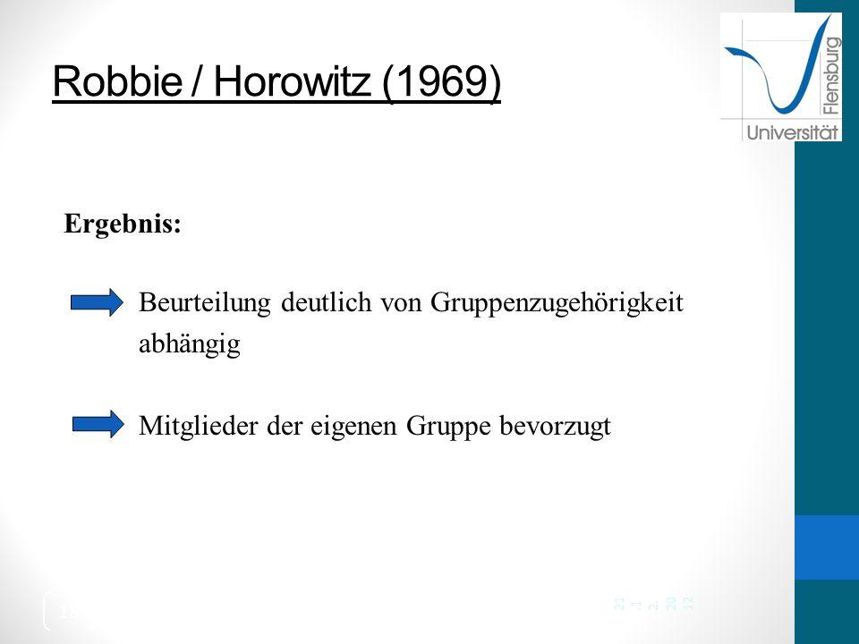 Robbie / Horowitz (1969) Ergebnis: abhängig