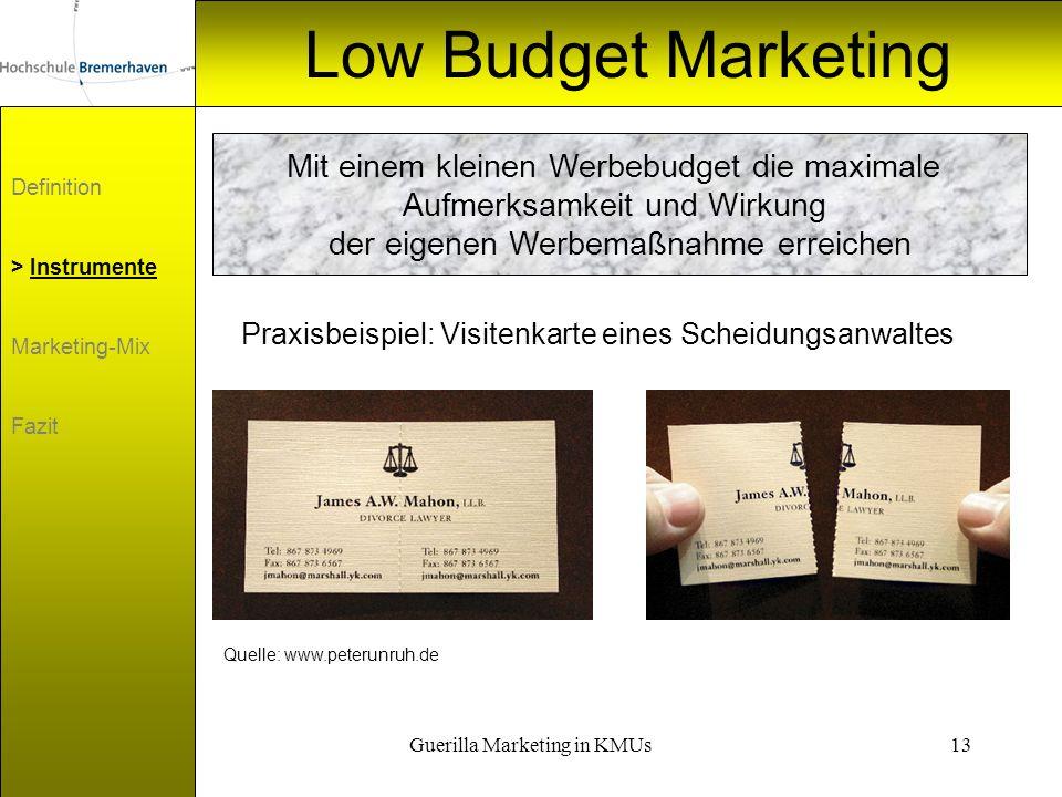 Low Budget Marketing Mit einem kleinen Werbebudget die maximale