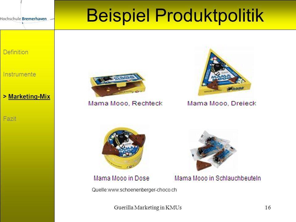 Beispiel Produktpolitik