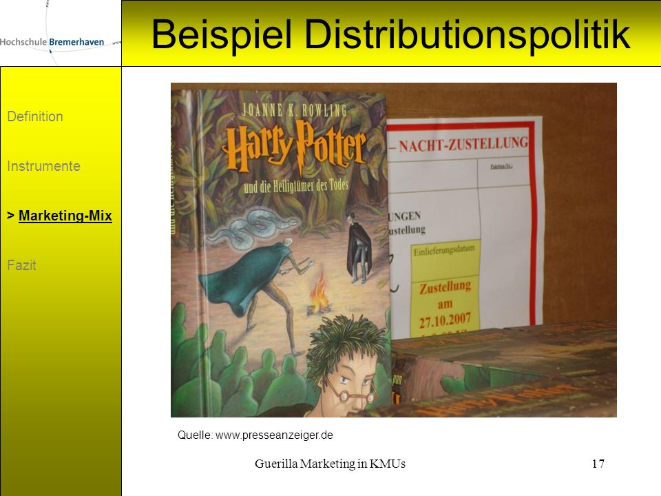 Beispiel Distributionspolitik