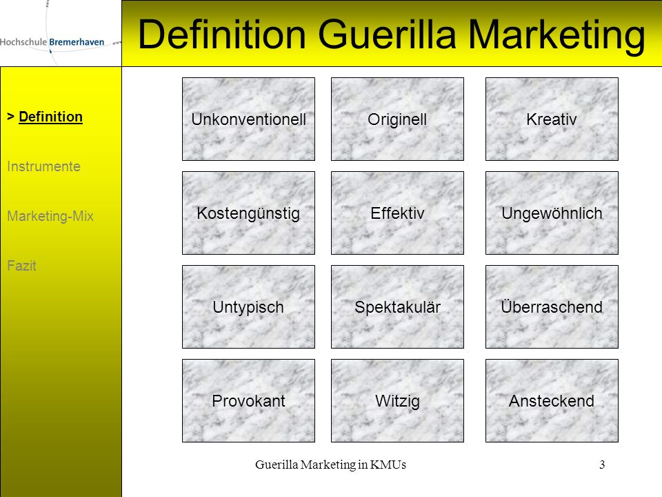 Definition Guerilla Marketing