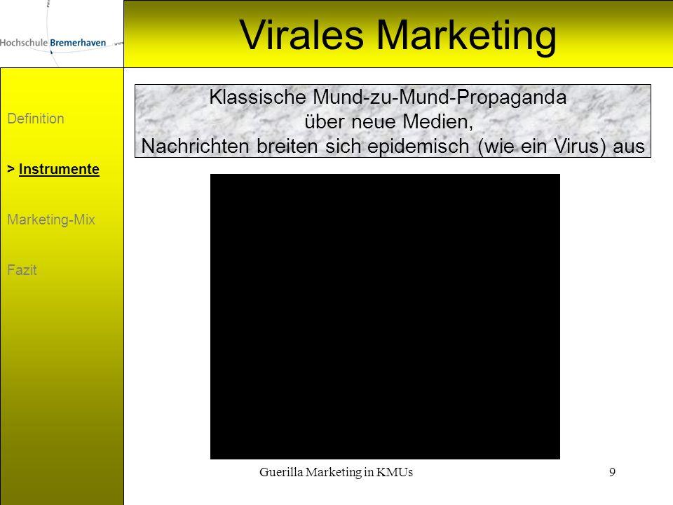 Virales Marketing Klassische Mund-zu-Mund-Propaganda über neue Medien,